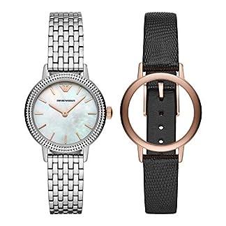 Emporio Armani Reloj Analógico para Mujer de Cuarzo con Correa en Acero Inoxidable AR80020