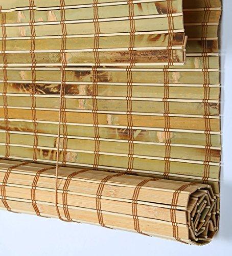 WUFENG rideau Bambou Fait Sur Mesure Roll Up Window Rideau En Bambou Aveugle Panneau Rideaux Anti-insectes Balcon Salon Salon De Thé Rideau Pare-soleil (Couleur : D, taille : 90 * 150cm)