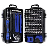 Gocheer 115 en 1 mini set tournevis precision kit tools petit boite tournevis torx informatique demontage pc portable pour macbook,iphone,réparation,lunettes,bricolage,montre,smartphone (Bleu)
