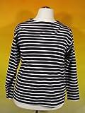 Bretonisches Damen Fischerhemd Langarm Streifen Hemd blau / weiß gestreift 2500D_05 von Modas alle Größen