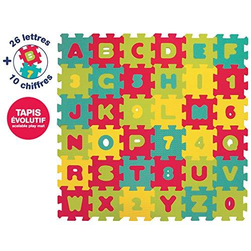 Ludi 1006 - Ordenador educativo, letras y números, 92 x 92 x 1.2 cm, surtido: modelos aleatorios