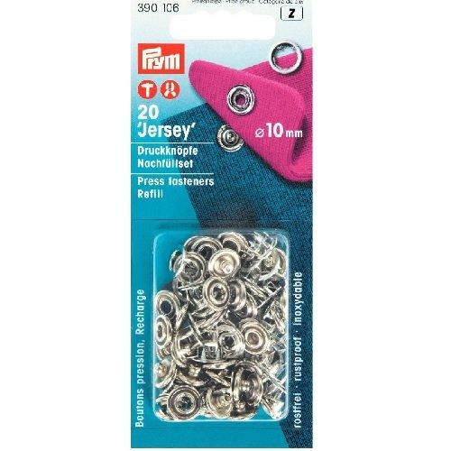 Prym Nähfrei Jersey Ring Druckknöpfe-Nachfüllpack silberfarbig ( 10 mm, 20 St.)