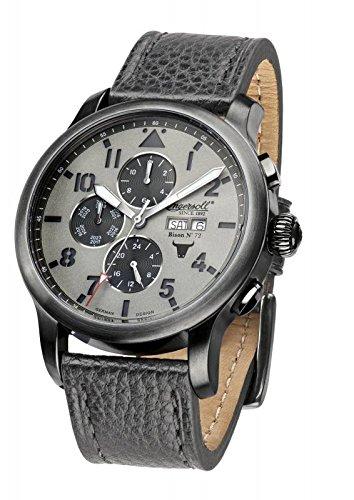 Ingersoll Herren-Armbanduhr Bison No. 72 Chronograph Automatik Leder IN1221GUGY