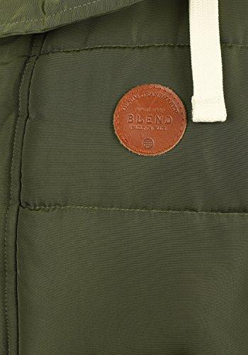 BLEND Frederic Herren Winterjacke Stepp-Jacke mit Kapuze und Teddy-Futter aus hochwertiger Materialqualität Ivy Green (77086)