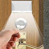 Steellwingsf 4 LED PIR Infrarot-Erkennung Bewegungsmelder Haustür Praktische Schlüsselloch-Lampe – Weiß