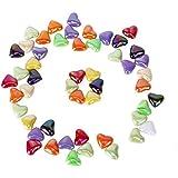TOOGOO(R) 50 Pcs Perles en Vrac de Forme de Coeur en Acrylique Colorees