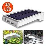 Leeron Lámpara foco iluminación solar de exterior con sensor de movimiento Leeron, 49 LED súper brillante para: jardín, patios, escaleras, garajes? (