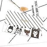 Huertuer 4pcs Chat mignon magnétique signets pour les livres lecteurs de marqueurs de livre Cadeau (Motif aléatoire)