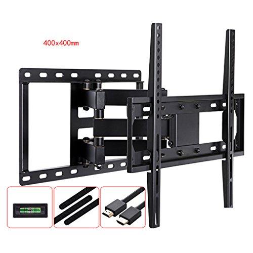 JH Ultra-dünne TV Wandhalterung mit 20 Zoll Auslegerarm/Wandprofil Neig- und Schwenkbar für die Meisten 32-60 Zoll LED LCD Plasma 3D & 4K - Bildschirme (HDTV-M) Sechsarmige Traglager (1080p Tv 60 Zoll)