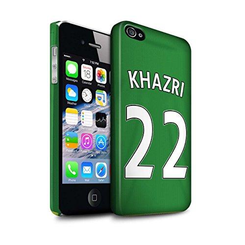 Officiel Sunderland AFC Coque / Clipser Matte Etui pour Apple iPhone 4/4S / Pack 24pcs Design / SAFC Maillot Extérieur 15/16 Collection Khazri