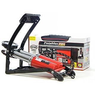 Premium double barrel Fuß-Luftpumpe mit manometer 140PSI HEYNER Pedalmax 10 BAR