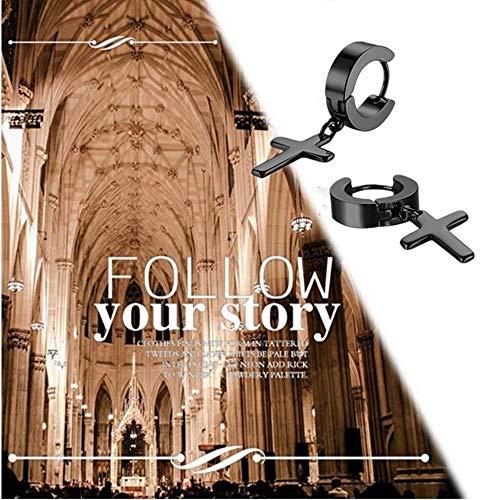 Zoom IMG-3 jewelrywe gioielli orecchini unisex croce