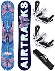 AIRTRACKS SNOWBOARD SET - TABLA AMOUR LADY 148 - FIJACIONES SAVAGE W M - SB BOLSA/ NUEVO