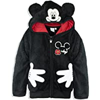 Disney Mickey Mouse Boys Girls Sherpa Hoodie Warm Cosy Jacket 2-8 Years - New 2017/18
