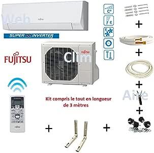 Climatiseur Atlantic Fujitsu ASYG 12 KPCA - Kit 3 mètres