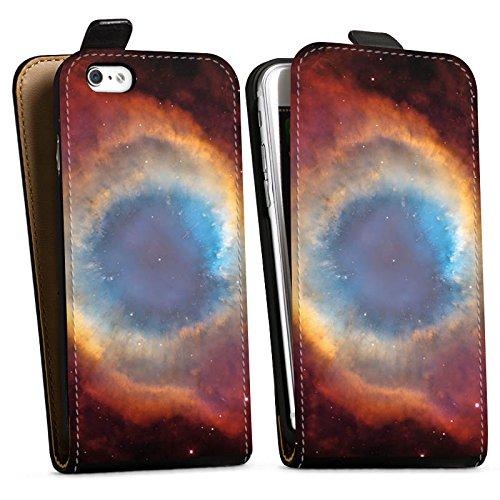 Apple iPhone X Silikon Hülle Case Schutzhülle Space Galaxy Helix Nebel Downflip Tasche schwarz