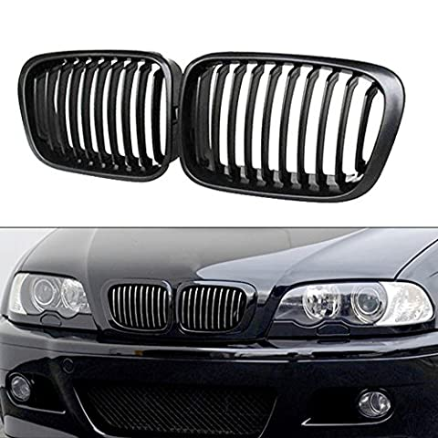 2X Front Replacement Matte Black Kidney Grille Grill For BMW