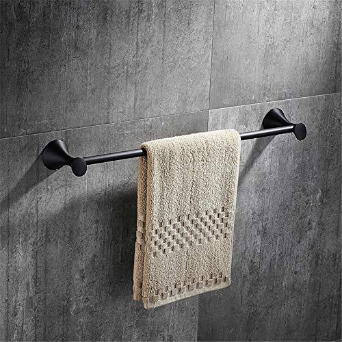 YDMJ Einfach Schwarz handtuchständer Einzelstange Rostfreier Stahl handtuchhalter Stange Bohren Badezimmer Handtuchstange Wandmontage Komplettes Zubehör handtuchhalter