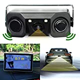 trustdeal Universal HD Auto Video Rear View Backup Reverse Sensor Kamera mit 2 Parksensoren und 2 LED Lampen Video Display Anzeige Bi Bi Alarm (für Auto)