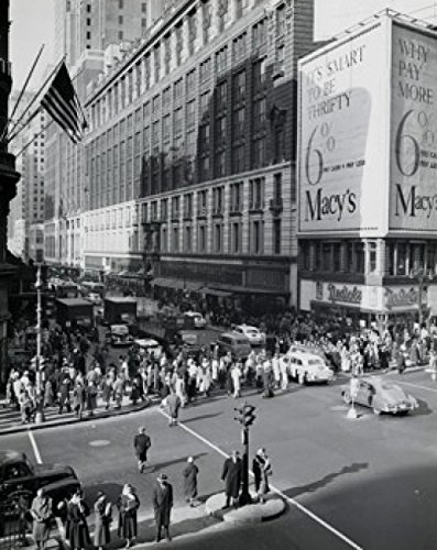 USA New York State New York City Crowd on Herald Square Poster Drucken (60,96 x 91,44 cm)