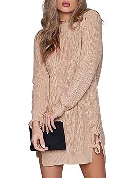 l'abbigliamento delle donne simplee collo merletto pullover occasionale in autunno - inverno a maniche lunghe...