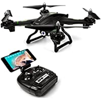 LBLA Drone avec Caméra FPV WiFi 2.4Ghz Quadcopter avec Lumière LED Télécommande Jouet Hélicoptère RC 3D VR pour Débutants et Enfants Cadeaux de Noël