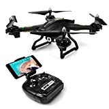 LBLA EDF FPV Drohne mit WiFi Kamera Live Video Headless Mode 2,4 GHz 4 Kanal 6 Achsen Gyro RTF RC Quadcopter kompatibel mit 3D VR Headset, schwarz