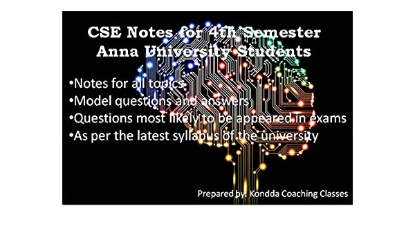 4th Sem Cse Notes