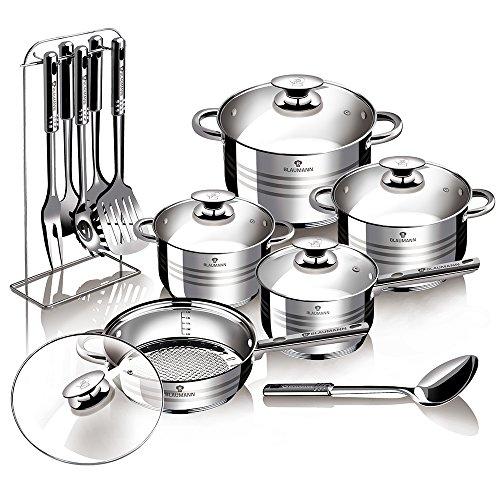 Blaumann Gourmet Line - Batería cocina 17piezas