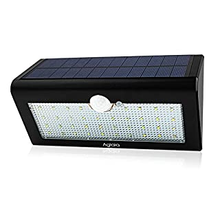 Aglaia Solar Wall Lights with Motion Sensor, 4W LED Solar Powered Security Light 500 Lumen with 3 Intelligent Modes.