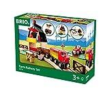 BRIO World 33719 Bahn Bauernhof Set - Holzeisenbahn mit Bauernhof, Tieren und Holzschienen -...