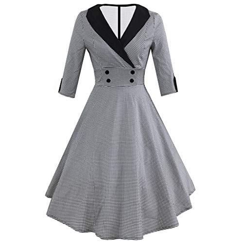 Flapper Dress with Short Sleeves Gatsby Party Women's Dress Style Girls Princess Fancy Dress Costume 1950er Vintage Polka Dots Pinup Retro Rockabilly Kleid - Ladies Fancy Dress Kostüm Größe 20