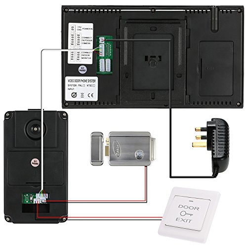 """KKmoon 7"""" Inch LCD Video Door Phone Doorbell Intercom Entry System RFID Access Control Door Access Entry with Remote Control;8G TF Card; 5*RFID ID Card"""