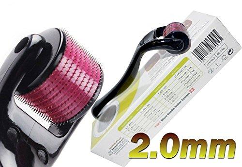 (540 Aiguilles) TMT Micro Needle Roller System® Titanium pour les rides, cicatrices, acné, traitement de la cellulite (Plus efficace que régulier 192 Rouleaux Derma Aiguille) (2.0 mm)