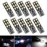 FEZZ 10pcs CANBUS T10 lampadine LED 12SMD 2835 Luci di posizione Piastra lampada auto Gioca Car interno Bianco