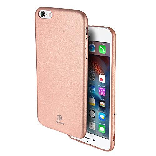 Galleria fotografica Cover Custodia iPhone 6 / 6S 4,7'' Ecco Pelle PU, Slim Sottile Interno TPU Morbido, Case Premium Protezione Posteriore Flessibile DUX DUCIS (Rosa)