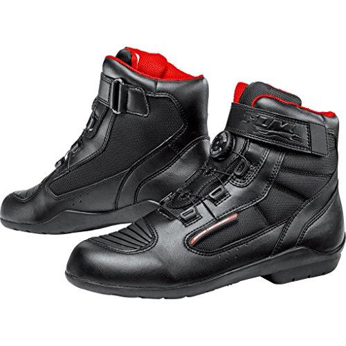 FLM Motorradschuhe, Motorradstiefel kurz Sports Schuh wasserdicht 1.1 schwarz 44, Unisex, Sportler, Ganzjährig, Leder/Textil