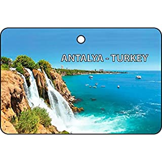 Antalya - Turkey Car Air Freshener (Xmas Christmas Stocking Filler/Secret Santa Gift)