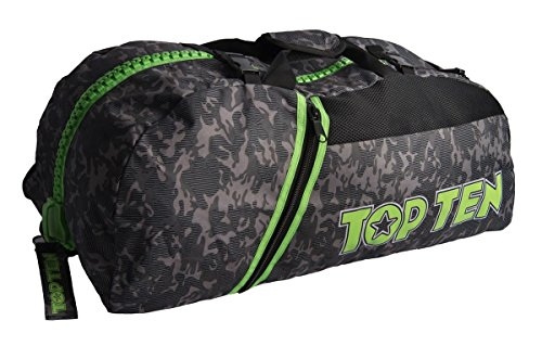 Top Ten Camo Convertible Sport Bag/Backpack Black