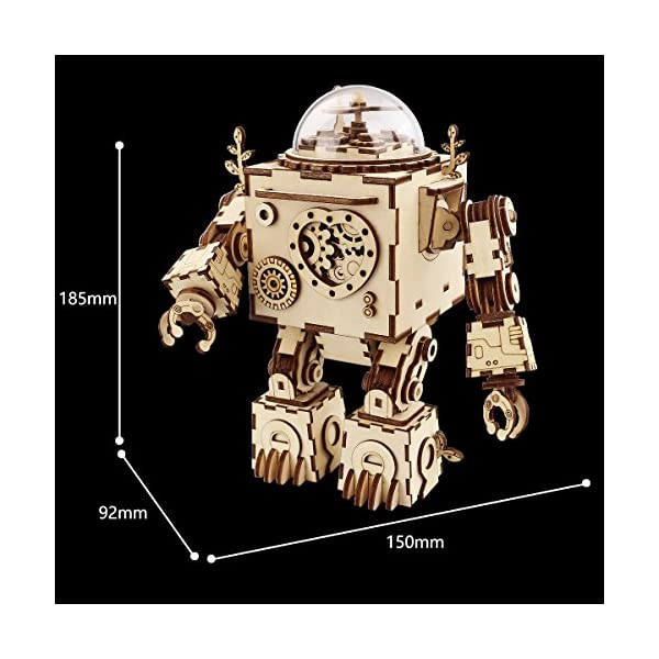 Robotime Laser Cut Wooden Puzzle-DIY Mechanism Music Box-Wooden Model Building-Birthday for Kids and Adults 2