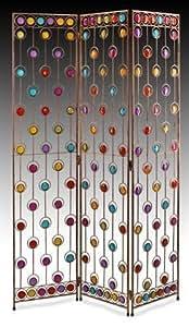 Signes Grimalt - Paravent separateur 3 panneaux, effet verre multicolore66246SG