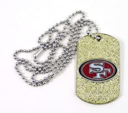 NFL San Francisco 49ers Glitter Dog Tag