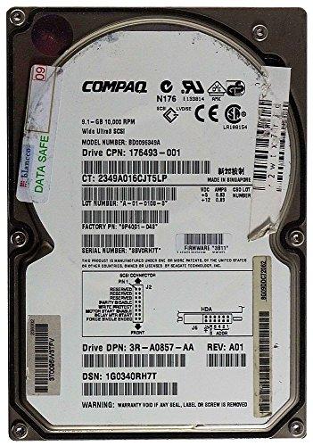 9,1GB Festplatte Compaq BD0096349A U3 SCA SCSI ID9857 - Compaq Scsi-festplatte