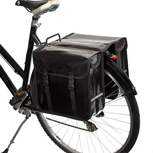 BikyBag® Wasserdicht - Doppel Fahrradtasche Gepäckträgertasche (Schwarz)