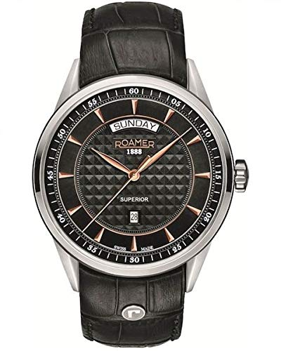 ROAMER Herren Analog Quarz Uhr mit Leder Armband 508293 49 55 05