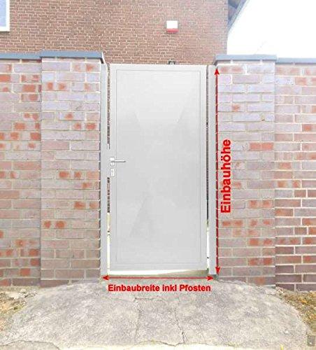 Pforte Tür Eingangstor Gartentor Hoftor Weiß Beschichtet 105cm x180cm Sandbach