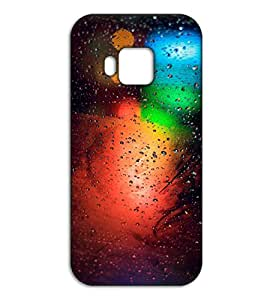 Happoz blurred rain effect HTC One M9 back case Mobile Phone Back Panel Printed Fancy Pouches Accessories Z260