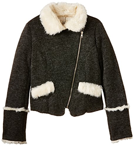 Molly Bracken - STAR Veste fourrure, Giacca per bambine e ragazze, grigio (grau - grau  (anthrazit)), 5 anni (110 cm)