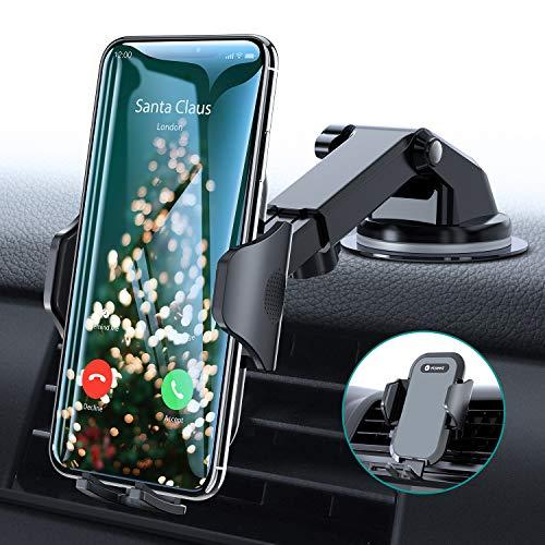Handyhalter fürs Auto Handyhalterung Armaturenbrett/Windschutzscheibe/Lüftung Universal Kfz Handy Halterung für iPhone 11 Pro XS Max XR X 8 7 Plus, Samsung S10 S9 S8, Huawei Mate 30 P30 Pro usw