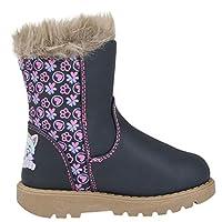 Paw Patrol Girls Infant Fur Top Navy Zip Smart Casual Winter Boots 5-10
